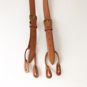 AJ Colors Leather Adjustable Button Suspenders 632